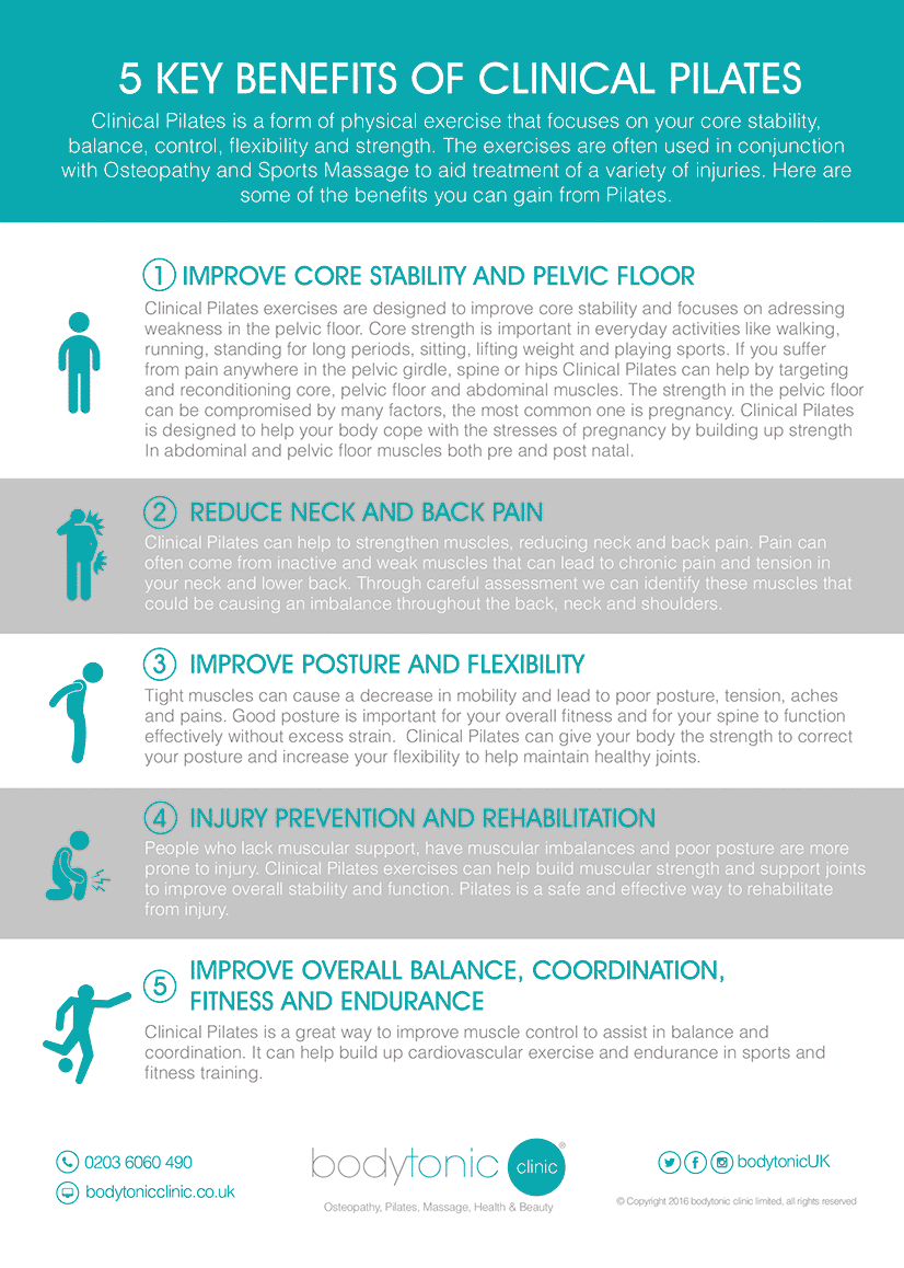 5 Key Benefits of Pilates - bodytonic clinic