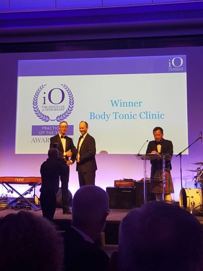 Clinic Director Winner of The Institute of Osteopathy Practice of the Year 2018