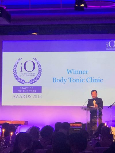 The Institute of Osteopathy Practice of the Year 2018 Winner event