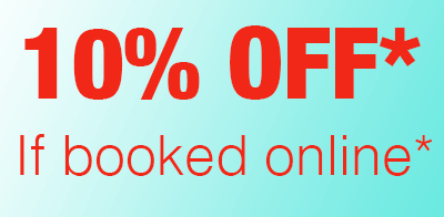 10% off your next booking