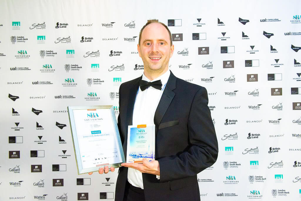 Entrepreneur of the year James Gill Southwark Business Excellence Awards 2019 Winner