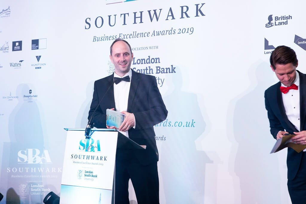 Southwark Business Excellence Awards 2019 Winner James Gill Osteopath