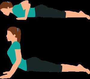 Cobra Extension exercise Sciatica sciatic pain Yoga Pilates