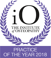 Osteopathy Practice of the year 2018 copy iO Awards Winner