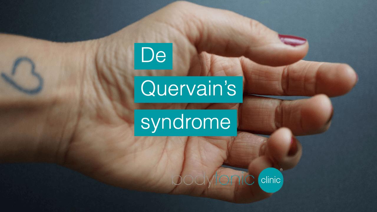 De Quervain's syndrome bodytonic clinic London